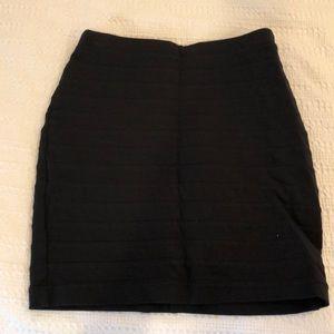 Thick Black pencil skirt